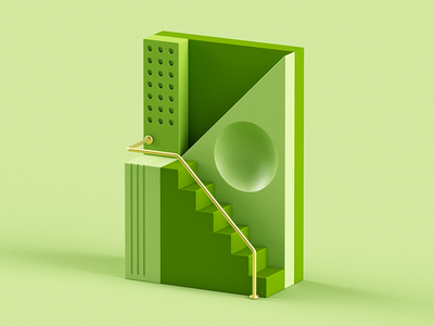 K gold green metal candy fun design plastic 3d isometric color c4d abstract 36 days of type letter