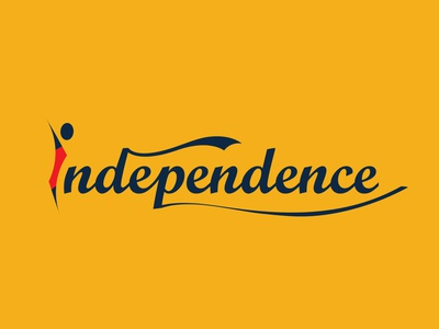 Independence Logo woman creation graphic design flat 2d art independence typography logotype designer logo designer branding design identity branding logo