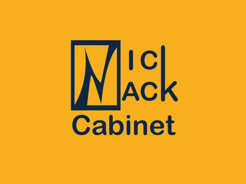Nick Nack Cabinet Logo logotype typogaphy branding design minimalist logo modern logo business logo 2d logos custom design art logo