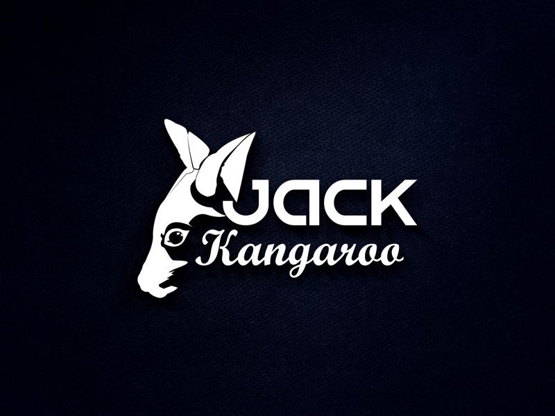 Jack Kangaroo graphic art jack kangaroo creative concept identity minimalist custom business logo logo design branding design logotype design branding logos