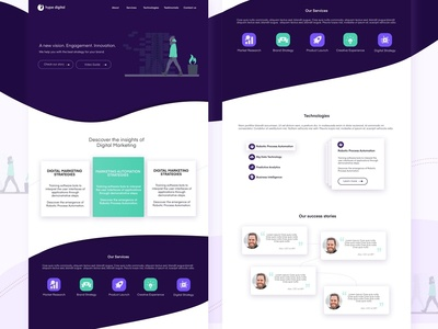 UI - Marketing Landing Page Concept