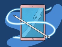 Ipad and Apple Pencil Grain Design