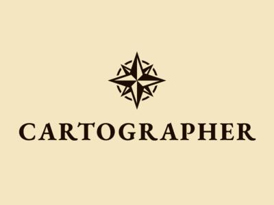 Cartographer Logo west east south north rose compass cartography logo maps