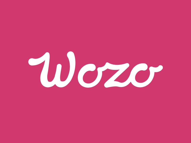 Wozo Logo vibrant home decor type logo logo handwriting hand written script typography handletter