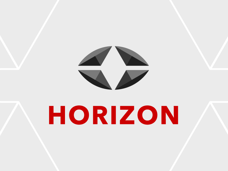 Horizon Logo auto car company car vehicle automotive icon design branding vector modern minimal illustration circle compass logo