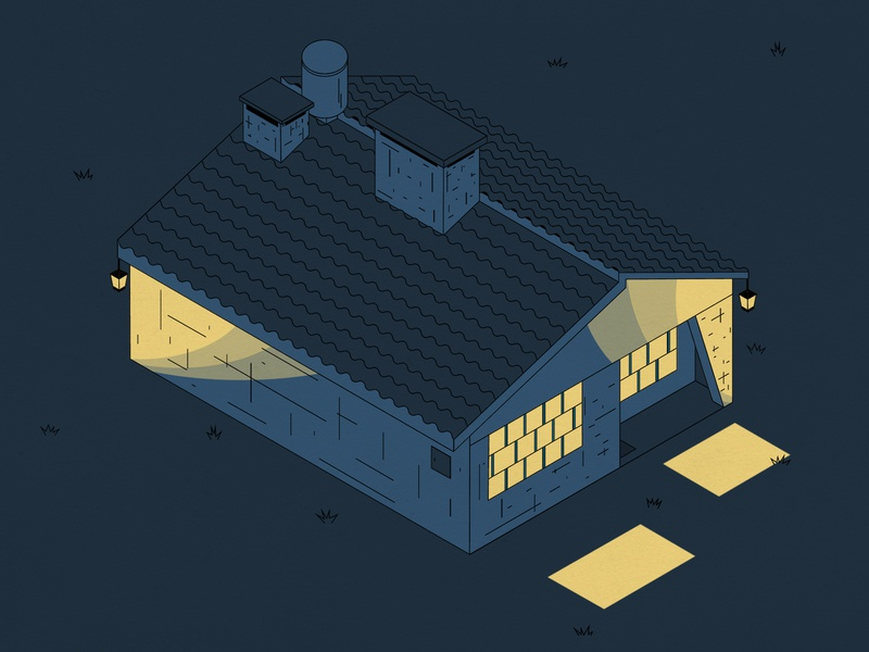 Cuarentena casa home house blue isometric illustration isometric drawing illustration