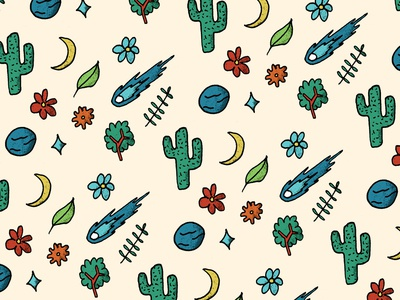 Naturaleza I flower pattern art pattern cactus drawing draw beach astro cartoon illustration