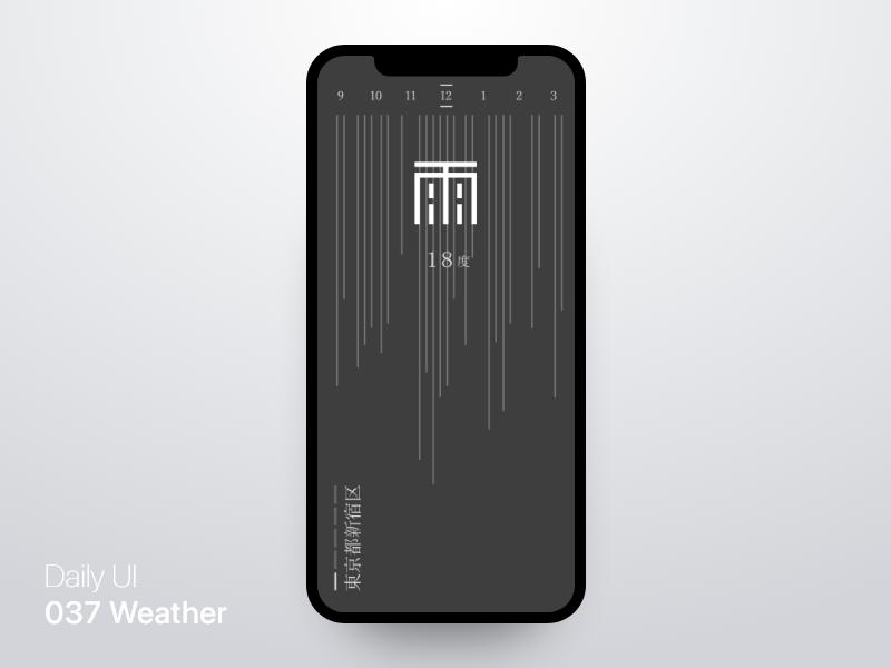Daily Ui Challenge 037 - Weather App daily ui challange rain weather icon weather app weather design app ui daily ui 037