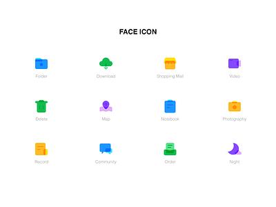 Face Icon 商标 品牌 布尔运算 ui 设计 图标
