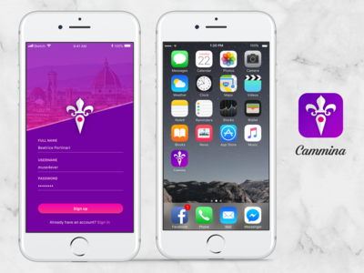 Daily UI 001 & 005: Sign up & App icon