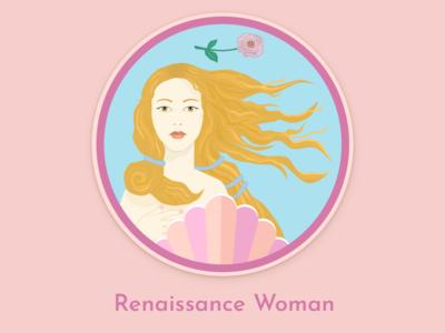 Daily UI 084: Badge - Renaissance Woman