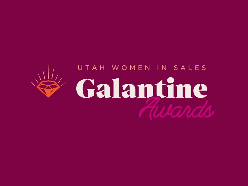 Galantine Awards — Primary Logo rays glow wordmark utah women awards brand identity logo crest diamond