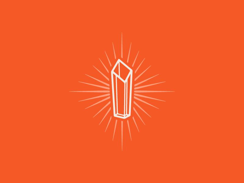 Galantine Awards — Award Icon rays glow wordmark utah women awards brand identity logo crest diamond