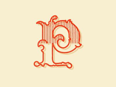 36 Days of Type — P stamp ink stamp logo typography type design branding 36daysoftype 36days