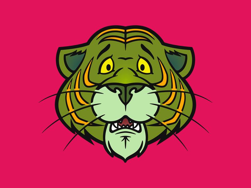 Cringer mark smooth lines green tiger masters of the universe he-man cringer