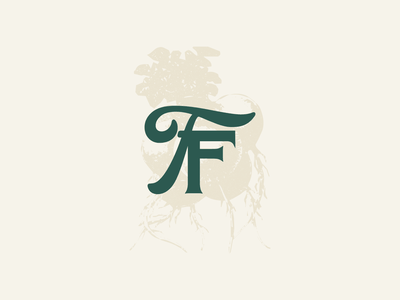Forbidden Fruit — Branding monogram peach farm farmer utah branding type typography logo