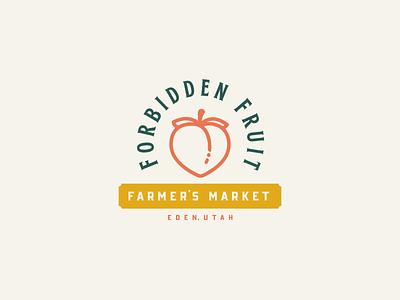 Forbidden Fruit — Branding farmers market farmers farm peach utah branding typography type logo