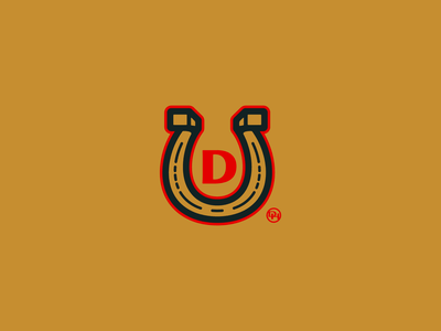 Horseshoe monogram lucky d horseshoe