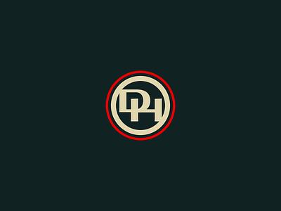 DH Monogram western brand lockup logo monogram