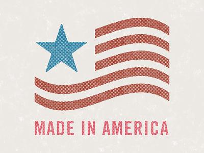 Made In America merica halftone stripes star made in america flag america