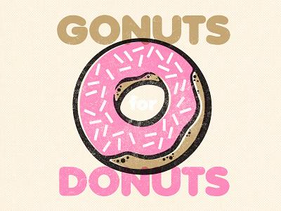 Gonuts Donuts pink frosting sprinkles donut doughnut