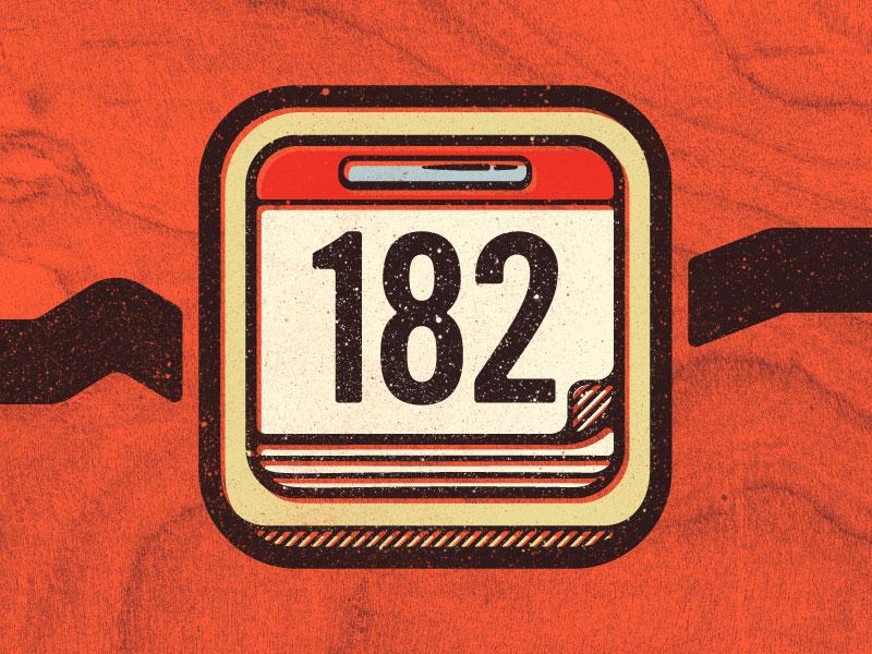 Mid-Year Calendar goals woodgrain orange icon calendar