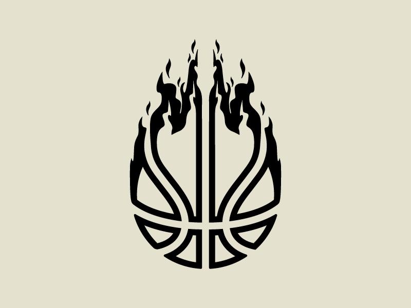 Basketball flame fire sports hoops flames basketball nba