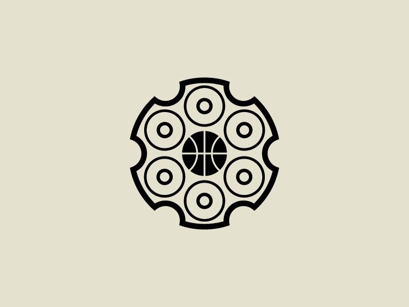Basketball Revolver — Icon bullet gun basketball six shooter pistol revolver nba