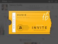 Hunie Invitations Available
