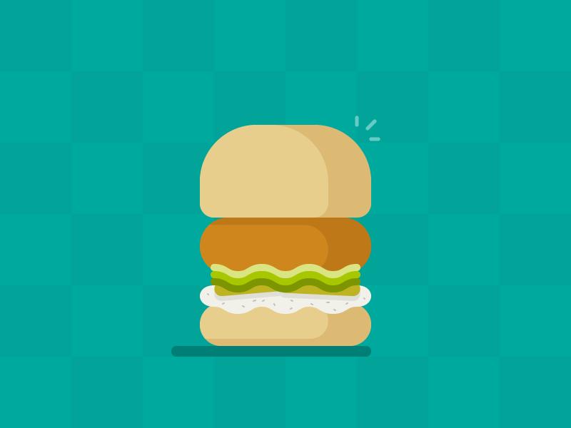 Chick'n Shack illustration vector sandwich chicken chickn shack shake shack