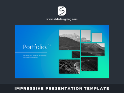 PORTFOLIO - Creative Trending Presentation Template ui icon design illustration goods typography vector keynote template keynote presentation digital powerpoint template powerpoint presentation template powerpoint design office365 keynote powerpoint slide animation designing presentation