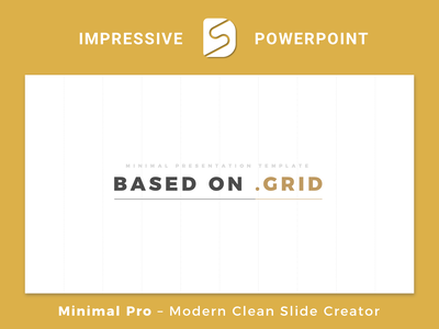 Minimal Pro - Presentation Template Slide Builder grid illustration modern simple keynote slide digital ux branding clean typography powerpoint presentation powerpoint template powerpoint ui logo animation presentation sketch slidedesigning