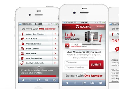 Rogers One Number Mobile Site