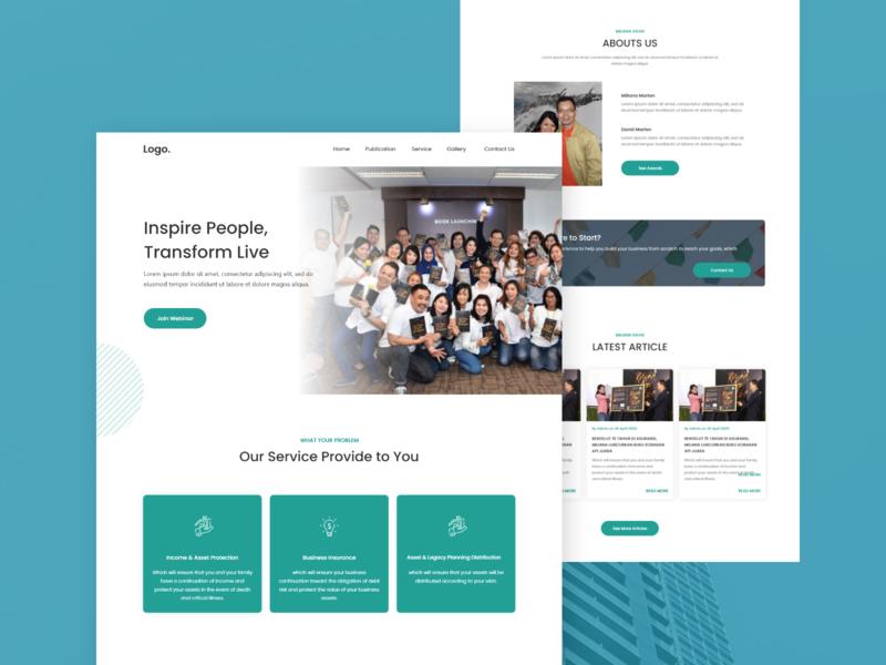 Landing Page Design - Concept #1 website development landing page wordpress development website design