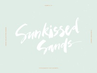 Sunkissed Sands Calligraphy