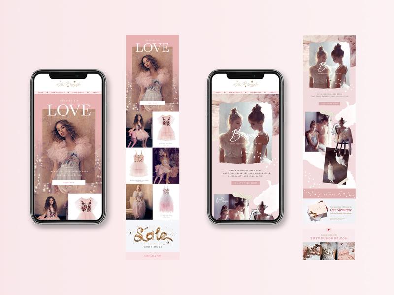 EDM Design For Tutu Du Monde digital web graphic art typography branding design graphic  design