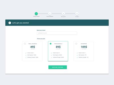 Pricing Plan pricing steps setup pricing plan ui web desgin web design