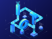 IoT Isometric Letter