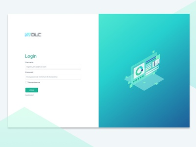 Login Page minimal login page splitscreen design illustration graphic web desgin ui web vector isometric