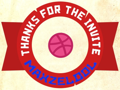 Dribbble Thanks josephmanning dribbble thanks maxzeldol