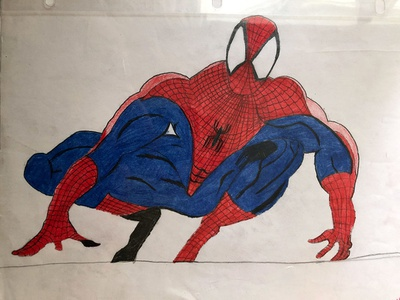Spiderman Drawing cartoon illustration cartoon character cartoon cartoon comic drawing design illustration graphic  design freelance designer dribbble josephmanning