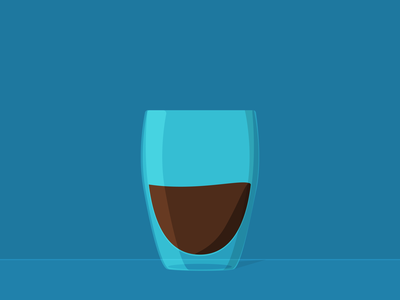 Double Wall Coffee Glass stayhome illustration figma coffee 2d