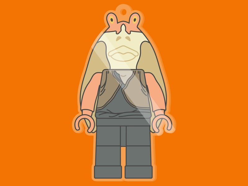 Binks illustrator episode 1 episode phantom menace blocks minifig minifigure lego jar jar star wars