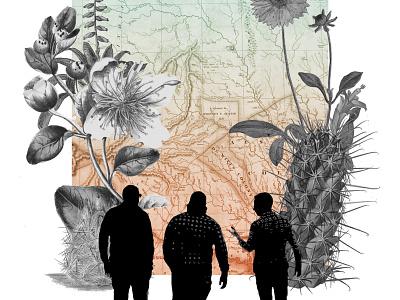 big desert flowers concert gig poster ohno btid cactus desert