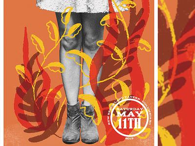 Flower Feet south carolina columbia may warm leaves foliage plants legs feet gig poster