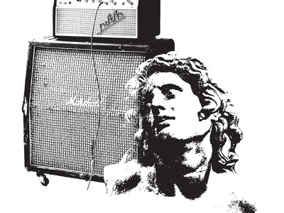 Alternative Fusion south carolina gig poster photoshop rock and roll bust classical concert black and white amp amplifier marshall flyer music alternative statue