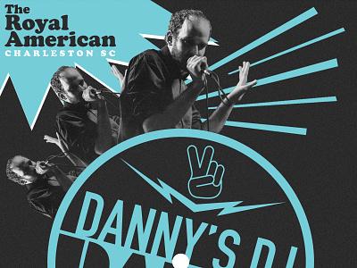 DJ Dance Party lightning retro dj flyer flyer label american danny slices peace south carolina charleston party dance vinyl records dj
