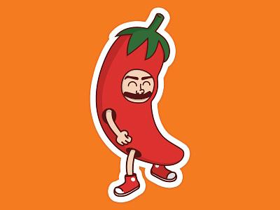Vinny Pepper hot sauce cute sticker jalepeno red shoes converse stickermule vinny pepper hey arnold