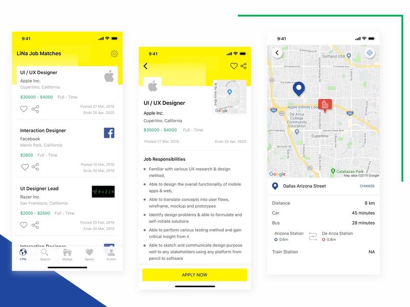 Jobstreet Redesign Concept job cv yellow design job seekers job search company profile map design app redesign redesign concept job listing job application job app