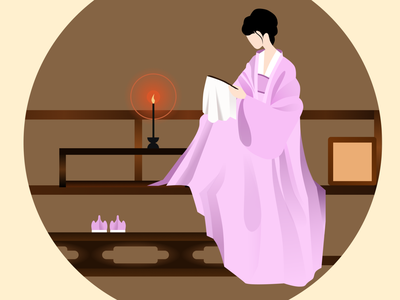 Minglan, girl in traditional Chinese dress chinese culture character figma design illustration